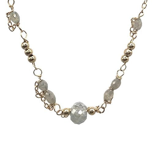 14K Delicate Diamond Necklace
