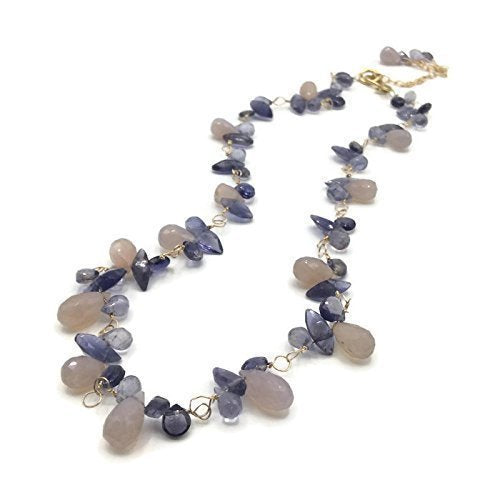 Wisteria Blossom Clustered Gemstone Necklace