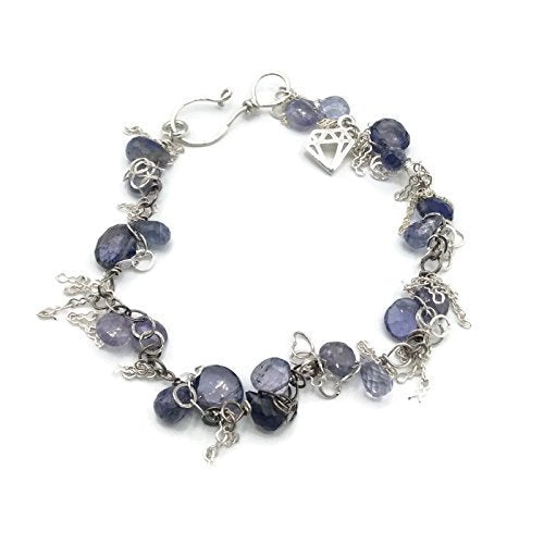 Tanzanite Clustered Gemstone Bracelet