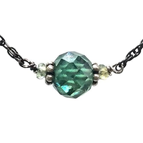 *2.0 Carat Antique Aqua Diamond Necklace - Van Der Muffin's Jewels