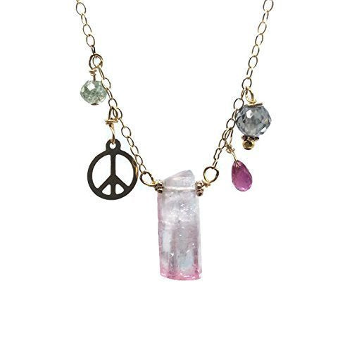 14k Rose Gold 'Peace' Choker Necklace