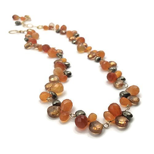 Autumn Harvest Gemstone Cluster Necklace