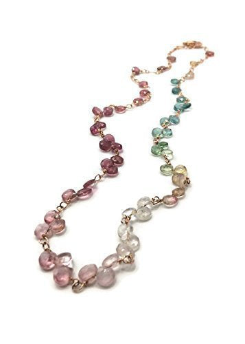Tourmaline Statement Multicolor Necklace