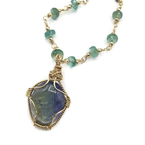 Emerald BeadedTanzanite Celebration Necklace - Van Der Muffin's Jewels