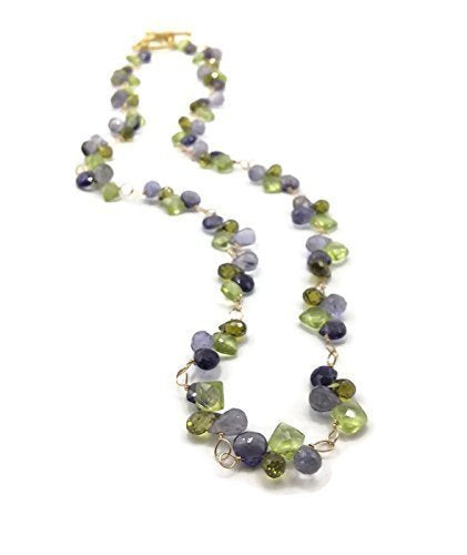 Summer Blooms Gemstone Cluster Necklace - Van Der Muffin's Jewels