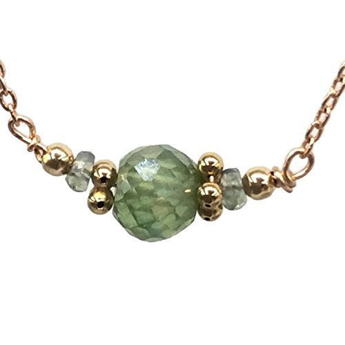 Peridot Green Diamond Necklace