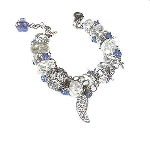 Pave Sapphire Angel Wing Bracelet