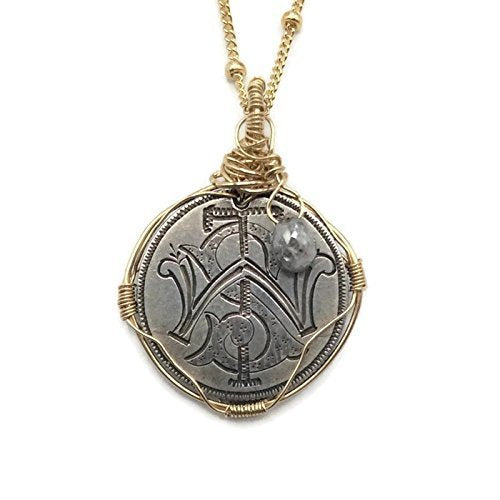 Victorian Love Token Gray Diamond Necklace