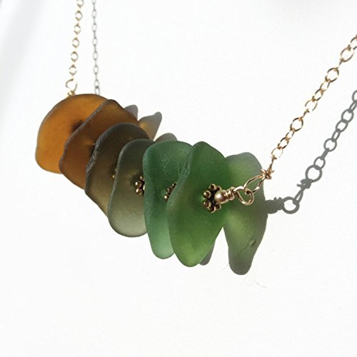 Ombre Sea Glass Necklace - Van Der Muffin's Jewels