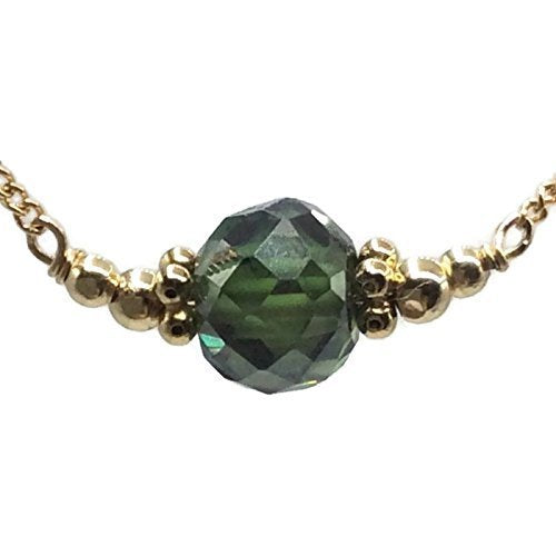 Emerald Green Fancy Diamond Necklace