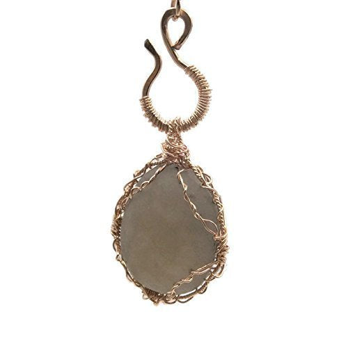 Gray Sea Glass Pendant Necklace - Van Der Muffin's Jewels