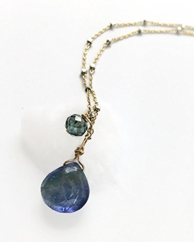 * 4.0 Carat Tanzanite & Diamond Necklace