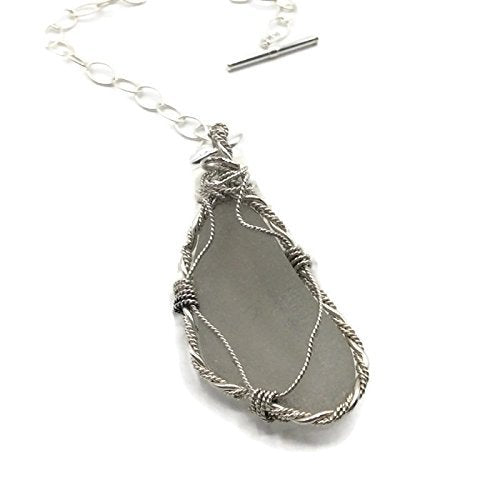 Sterling Silver Sea Glass Necklace - Van Der Muffin's Jewels