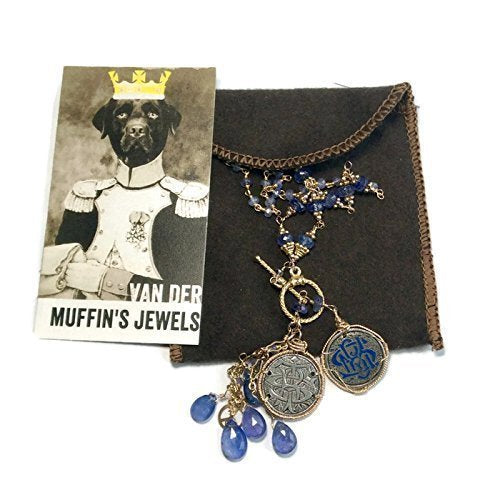 Antique Opal Diamond & Sapphire Necklace - Van Der Muffin's Jewels