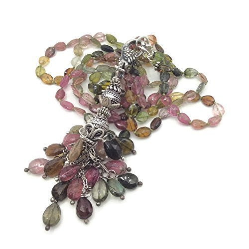 Watermelon Tourmaline Tassel Necklace