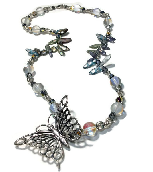 Beaded Butterfly Necklace - Van Der Muffin's Jewels - 1