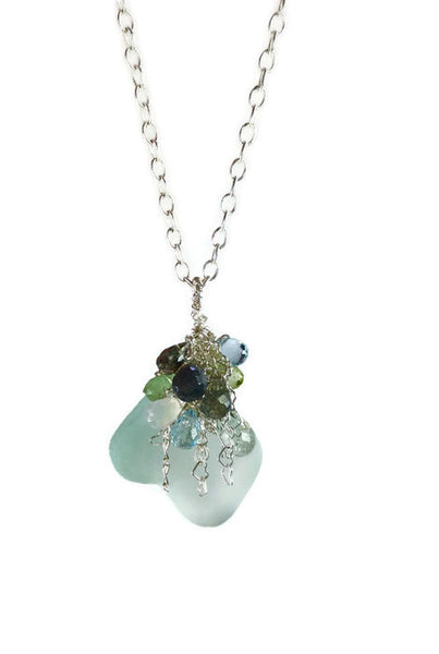 *Sea Glass Gemstone Necklace