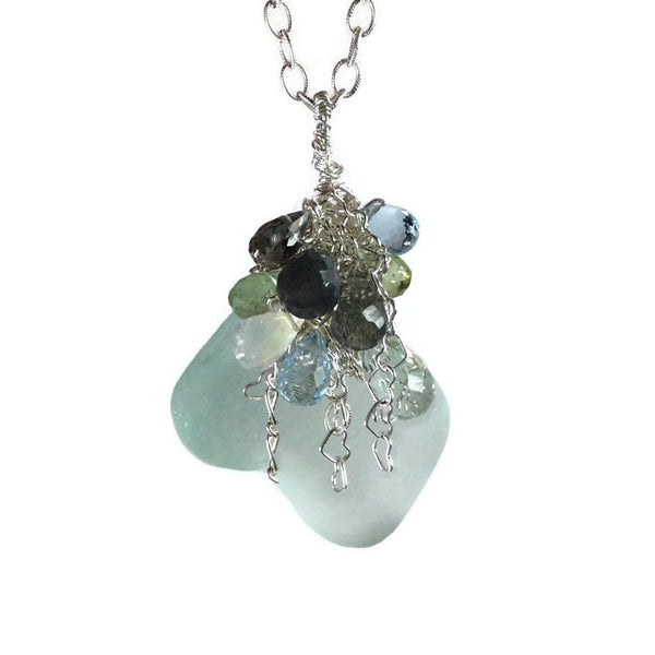 *Sea Glass Gemstone Necklace - Van Der Muffin's Jewels