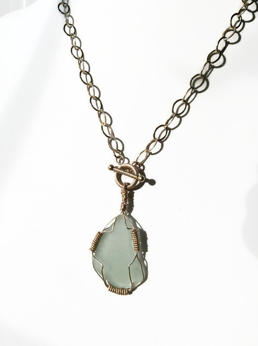*SOLD* Sea Glass Necklace - Van Der Muffin's Jewels