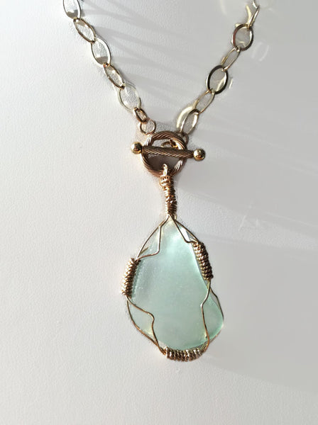 *SOLD* Sea Glass Necklace - Van Der Muffin's Jewels - 4