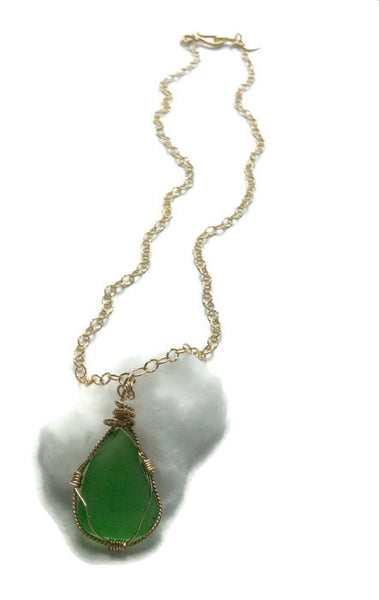 Sea Glass Necklace - Van Der Muffin's Jewels - 3