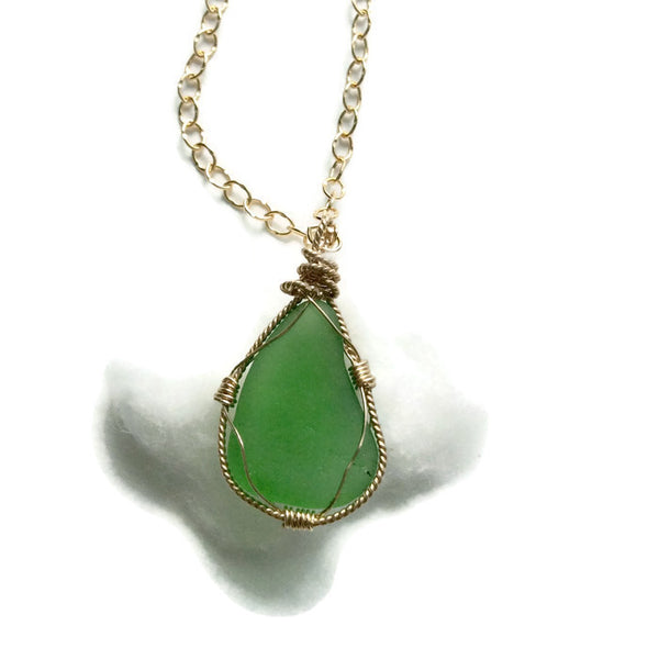 Sea Glass Necklace - Van Der Muffin's Jewels - 4