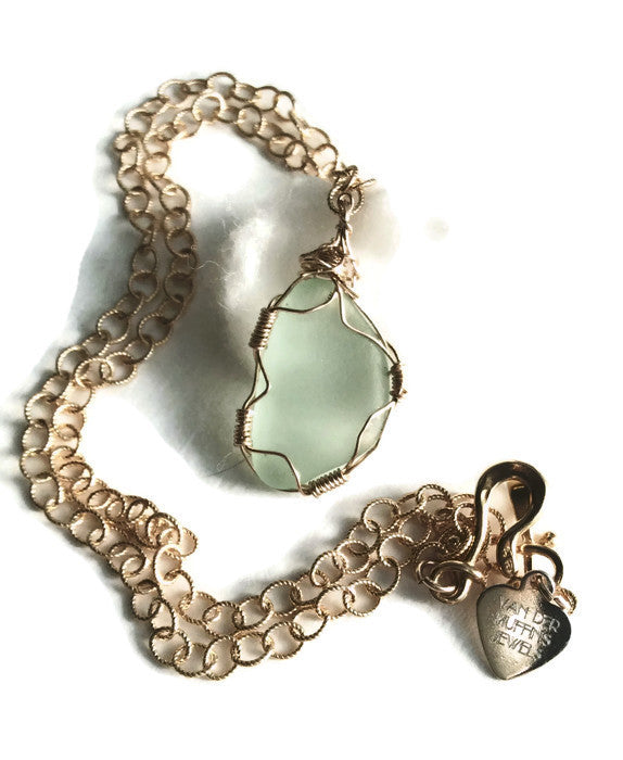 Sea Glass Necklace - Van Der Muffin's Jewels