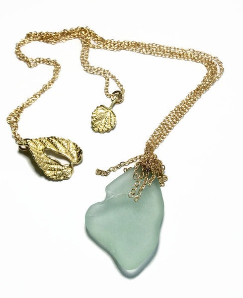 Fringed Hamptons Sea Glass Necklace - Van Der Muffin's Jewels