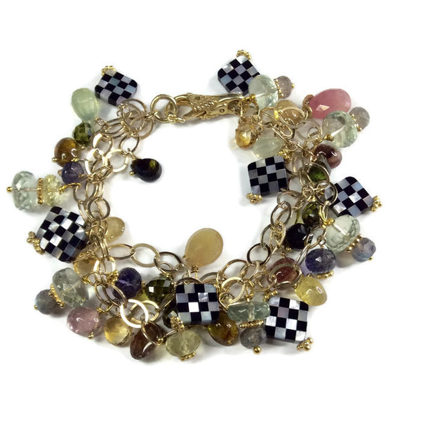 Clustered Tourmaline Bracelet - Van Der Muffin's Jewels - 1