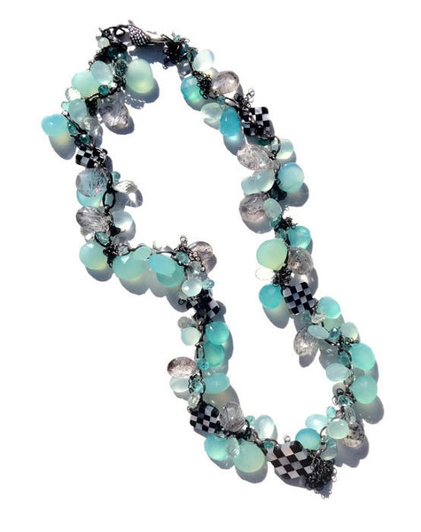 Checkered Cluster Necklace - Van Der Muffin's Jewels - 1