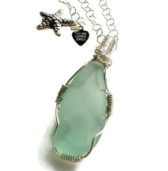 Hampton's Sea Glass Necklace - Van Der Muffin's Jewels
