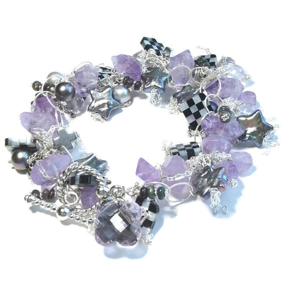Mackenzie-Childs Inspired Amethyst Gemstone Bracelet - Van Der Muffin's Jewels
