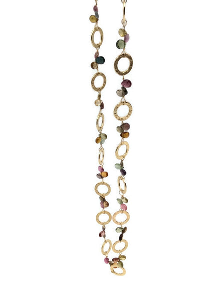 Golden Sapphire Necklace - Private Commission - Van Der Muffin's Jewels - 8