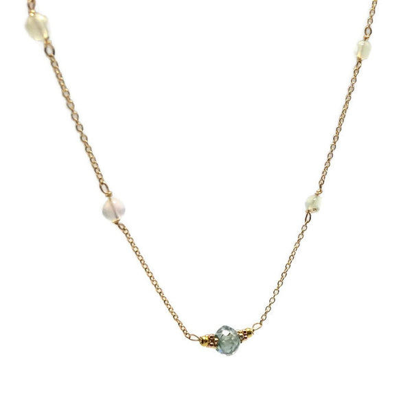 Diamond Station Necklace - Van Der Muffin's Jewels - 7