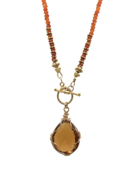 Harvest Moon Statement Necklace - Van Der Muffin's Jewels - 8