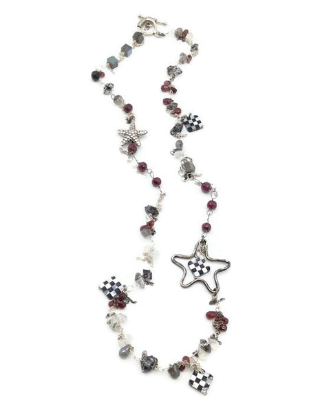 Checkered Starfish Necklace - Van Der Muffin's Jewels - 3