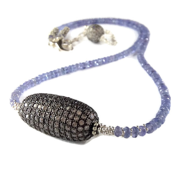 Tanzanite Beaded Necklace - Van Der Muffin's Jewels - 4