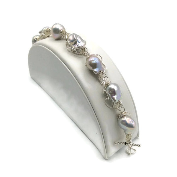 Fringed Pearl Bracelet - Van Der Muffin's Jewels - 3