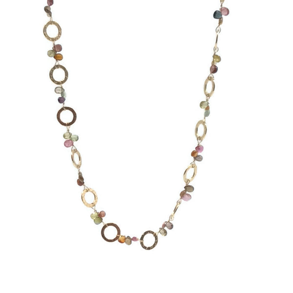 Golden Sapphire Necklace - Private Commission - Van Der Muffin's Jewels - 6