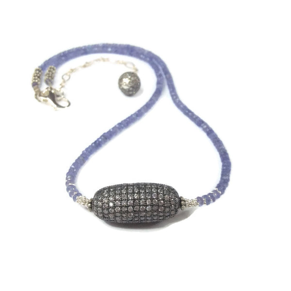 Tanzanite Beaded Necklace - Van Der Muffin's Jewels - 3