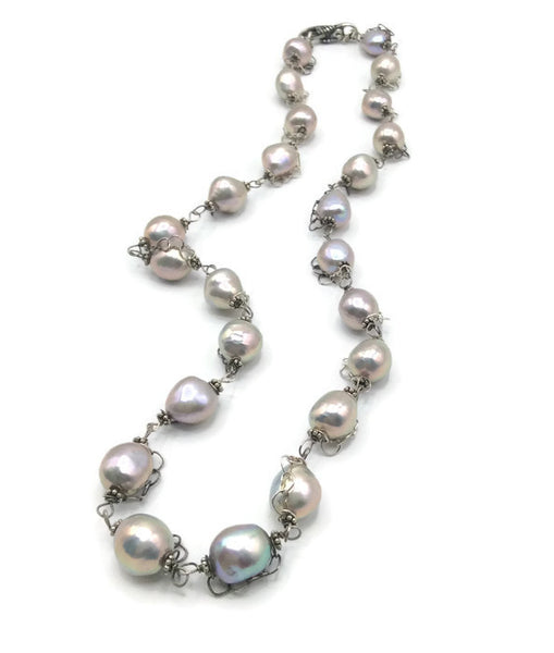 Woven Hearts Pearl Necklace - Van Der Muffin's Jewels