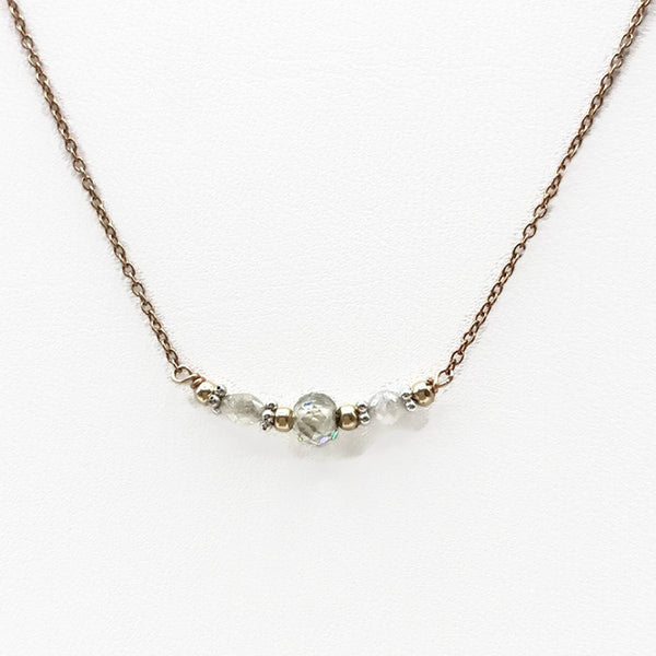 Diamond Bar Necklace - Van Der Muffin's Jewels - 8