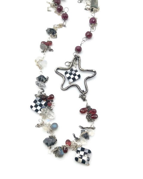 Checkered Starfish Necklace - Van Der Muffin's Jewels - 5