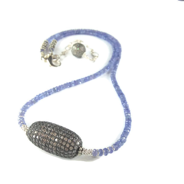 Tanzanite Beaded Necklace - Van Der Muffin's Jewels - 2
