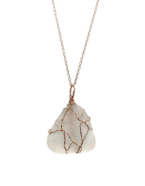Sea Glass Necklace - Van Der Muffin's Jewels - 2