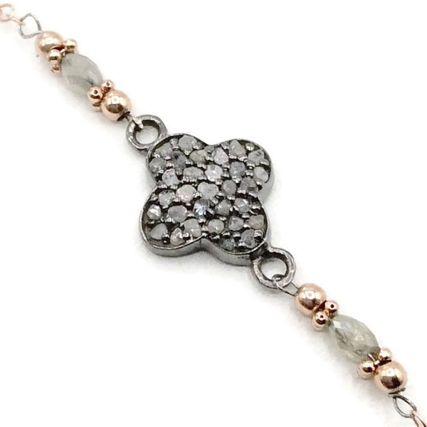 Diamond Clover Bracelet - Van Der Muffin's Jewels - 2
