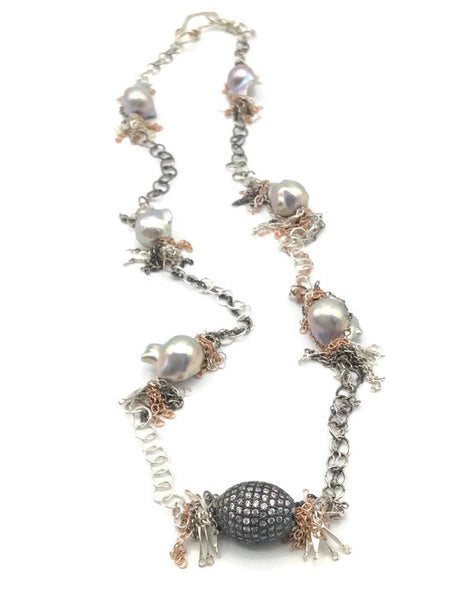 Fringed Pearl Necklace - Van Der Muffin's Jewels - 7