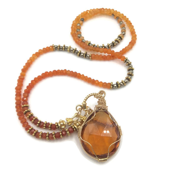 Sunset Toggle Necklace - Van Der Muffin's Jewels - 1