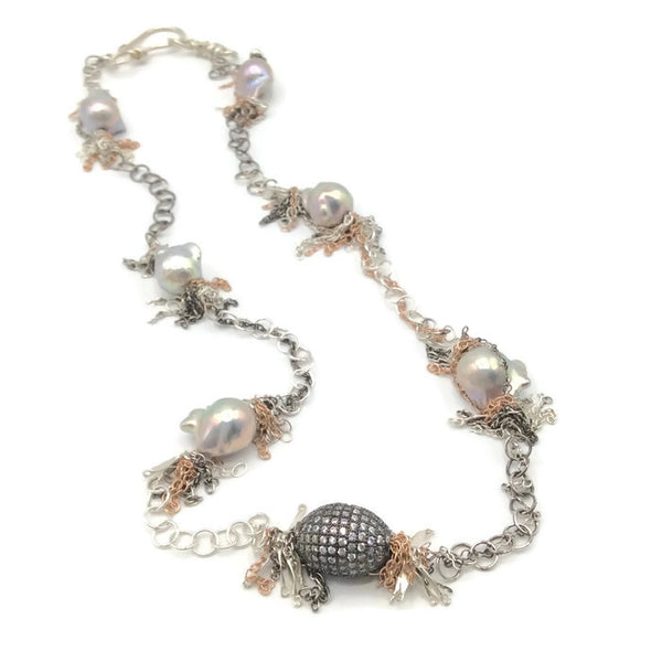 Fringed Pearl Necklace - Van Der Muffin's Jewels - 2