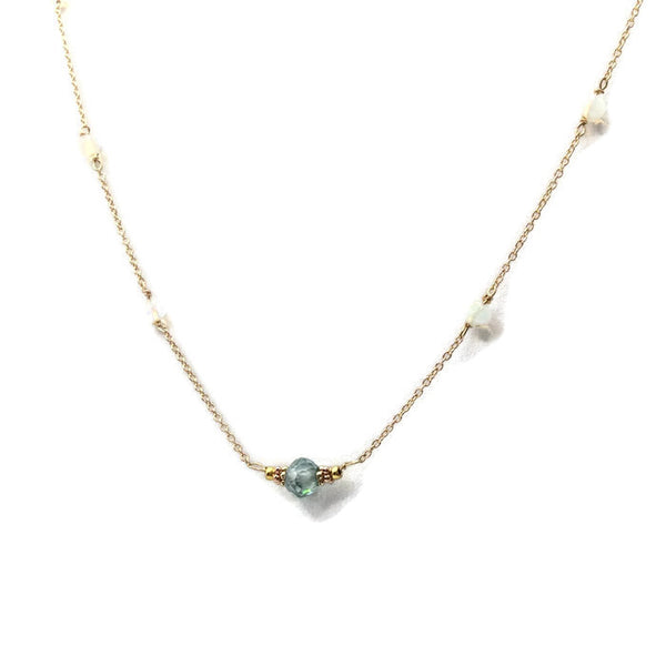 Diamond Station Necklace - Van Der Muffin's Jewels